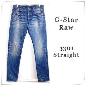 G-Star Raw 3301 Straight Legs Jeans Medium washed